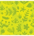 Hand drawn doodle plants pattern vector