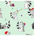Cute animals seamless pattern vector