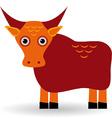 Cartoon of asian yak bull vector