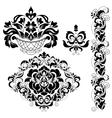 Set of ornate ornaments vector