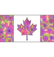Colorful flag of canada vector