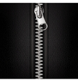 Zipper black background vector