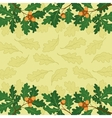 Background oak branch and leaves vector