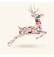Merry christmas jump deer vector