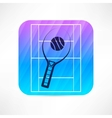 Tennis racket icon vector