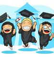 School college graduation cartoon vector