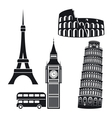 Cities symbols vector