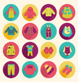Collection of children clothing - vector