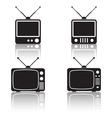 Retro tv sets collection vector