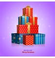 Gift box tree vector