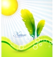 Abstract nature background tree vector