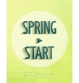 Poster design - spring started vector