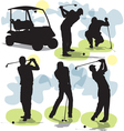 Golf silhouettes vector