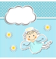 Little angel with stars and cloud vector