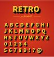 Retro alphabet set vector