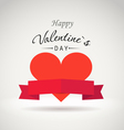 Valentine greeting card vector