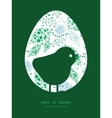 Abstract blue and green leaves chicken vector