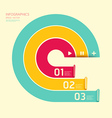 Modern soft color circle design template vector