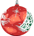 Bauble red vector