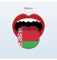 Belarus language abstract human tongue vector