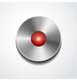 Metal record button isolated vector
