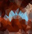 Brown blue polygonal triangular pattern background vector