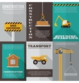 Construction poster set vector