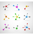 Abstract molecules set vector