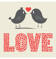 Love bird card vector