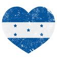 Honduras retro heart shaped flag vector