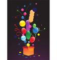 Celebratory balloons vector