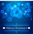Blue christmas background with flares on the sky vector