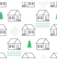 Seamless pattern with country houses vector