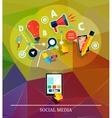 Cloud of application icons social media vector