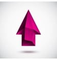 3d magenta up arrow vector