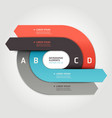 Modern arrow circle origami style options banner vector