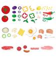 Food ingredients set vector