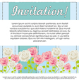 Invitation card with colorful flowers vector
