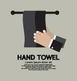 Flat design hand towel vector