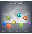 Modern design infographic 3d glossy ball elements vector