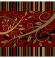 Floral ornament on a dark red background vector