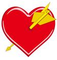 Stylized valentine heart vector