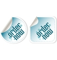 Order now stickers label set vector