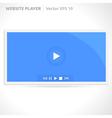 Website video player vector