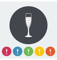 Wine flat icon vector