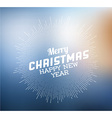 Retro christmas label on blurred background vector