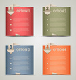 Modern origami colored options background vector
