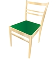 Dining chair with gradient vector