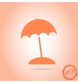 Beach icon flat design style vector