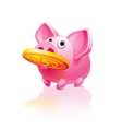 Piggy bank with a coin vector